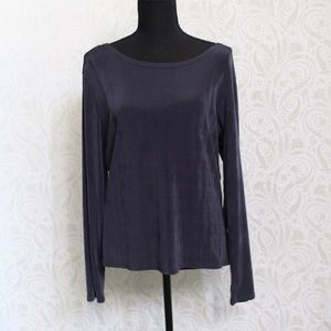 🍁Double D Ranch navy blue long sleeve top